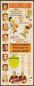 """Movie Posters:Musical, Second Fiddle To a Steel Guitar Lot (Marathon Pictures, 1965). Inserts (2) (14"""" X 36""""). Musical.. ... (Total: 2 Items)"""