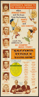 "Second Fiddle To a Steel Guitar Lot (Marathon Pictures, 1965). Inserts (2) (14"" X 36""). Musical. ... (Total: 2..."