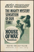 """Movie Posters:Horror, House of Wax (Warner Brothers, 1953). One Sheet (27"""" X 41""""). 2-DStyle. Horror.. ..."""