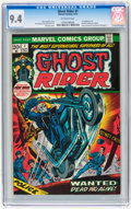Bronze Age (1970-1979):Horror, Ghost Rider #1 (Marvel, 1973) CGC NM 9.4 Off-white pages....