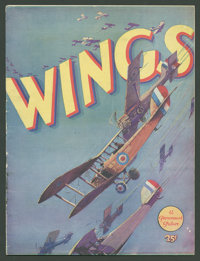"""Wings (Paramount, 1927). Program (9"""" X 12"""", Multiple Pages). War"""