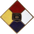 "Military & Patriotic:Civil War, Colorful and Rare Fifteenth Corps Army of the Tennessee ""Headquarters"" Badge...."