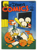 Golden Age (1938-1955):Cartoon Character, Walt Disney's Comics and Stories #38 (Dell, 1943) Condition:VG/FN....
