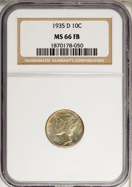 1935-D 10C MS66 Full Bands NGC  NGC Census: (30/5)  PCGS