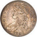 Bust Half Dollars, 1807 50C Capped Bust, Large Stars AU50 NGC....