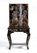 Asian:Japanese, A JAPANESE NAGASAKI LACQUER CABINET ON STAND. Edo Period, 19thCentury. 55-1/2 x 28 x 20-1/2 inches (141.0 x 71.1 x 52.1 cm)...