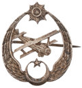 Military & Patriotic:WWI, Post-World War I: Turkish Silver Air Badge....