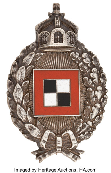World War I: Imperial German Army Observer Badge     Military