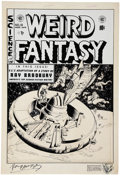"Original Comic Art:Covers, Al Williamson, Al Feldstein, and Roy Krenkel Weird Fantasy #18 ""Homesick"" Cover Signed by Ray Bradbury Original Ar..."