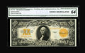 Large Size:Gold Certificates, Fr. 1187 $20 1922 Gold Certificate CGA Choice Uncirculated 64....