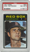 Baseball Cards:Singles (1970-Now), 1971 Topps Carl Yastrzemski #530 PSA NM 7. Few expected Ted Williams' left field replacement to pan out as well as he did, ...