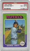 Baseball Cards:Singles (1970-Now), 1975 Topps George Brett #228 PSA NM-MT 8. The colorful '75 Toppsset is notorious for producing few high-grade cards, no do...