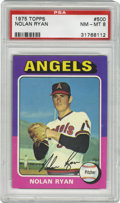 Baseball Cards:Singles (1970-Now), 1975 Topps Nolan Ryan #500 PSA NM-MT 8. The 1975 Topps Baseball set features a colorful design and was popular with collect...