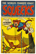 "Golden Age (1938-1955):Funny Animal, Squeeks #1 Davis Crippen (""D"" Copy) pedigree (Lev Gleason, 1953)Condition: FN/VF...."
