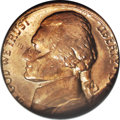 Errors, 1977 5C Jefferson Nickel--Struck on 1977 Cent--MS65 Red and Brown NGC....
