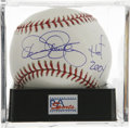 "Autographs:Baseballs, Dennis Eckersley ""HOF 2004"" Single Signed Baseball, PSA Mint 9. Theeffective Eckersley put himself in the Hall of Fame with..."