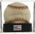 Autographs:Baseballs, Willie Stargell Single Signed Baseball, PSA NM+ 7.5. Pops Stargellsigns a great sweet spot signature in the surface of the ...