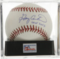 "Autographs:Baseballs, Gary Carter ""HOF 2003"" Single Signed Baseball, PSA Mint+ 9.5.Beloved catcher Gary Carter makes note of his Hall of Fame ind..."