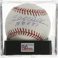 "Autographs:Baseballs, Billy Williams ""H.O.F 87"" Single Signed Baseball, PSA Mint 9. SweetSwingin' Billy Williams makes note of his Hall of Fame i..."