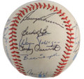 Autographs:Baseballs, 1983 Texas Rangers Team Signed Baseball. A total of 23 members ofthe 1983 Texas Rangers have checked in on the OAL (MacPha...