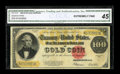Large Size:Gold Certificates, Fr. 1215 $100 1922 Gold Certificate CGA Extremely Fine 45....