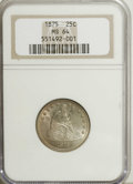 Seated Quarters, 1875 25C MS64 NGC....