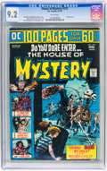 Bronze Age (1970-1979):Horror, House of Mystery #225 (DC, 1974) CGC NM- 9.2 White pages....