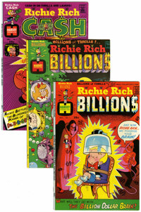 Richie Rich Billions/Richie Rich Cash File Copy Short Box Group (Harvey, 1974-82) Condition: Average NM-