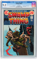 Bronze Age (1970-1979):Horror, Swamp Thing #2 (DC, 1973) CGC NM- 9.2 White pages....