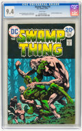 Bronze Age (1970-1979):Horror, Swamp Thing #10 (DC, 1974) CGC NM 9.4 White pages....