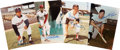 Autographs:Photos, Baseball Hall of Famers Signed Photographs Lot of 4....