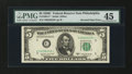 Error Notes:Inverted Third Printings, Fr. 1964-C* $5 1950C Federal Reserve Note. PMG Choice ExtremelyFine 45.. ...
