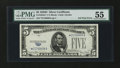 Error Notes:Obstruction Errors, Fr. 1654* $5 1934D Wide I Silver Certificate. PMG AboutUncirculated 55....