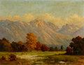 Paintings, ROBERT WILLIAM WOOD (American, 1889-1979). Landscape with Distant Mountains. Oil on canvas. 28 x 36 inches (71.1 x 91.4 ...
