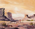 Texas:Early Texas Art - Impressionists, A. KELLY PRUITT (1924-2009). Navajo Land. Oil on canvas.8-1/4 x 10 inches (21.0 x 25.4 cm). Signed lower right: A.Ke...