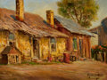 Texas:Early Texas Art - Regionalists, ROLLA SIMS TAYLOR (American, 1872-1970). West Side, 1960.Oil on artist's board. 12 x 16 inches (30.5 x 40.6 cm). Signed...