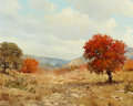 Texas, WILLIAM A. SLAUGHTER (American, 1923-2003). Autumn in theHills. Oil on canvas. 16 x 20 inches (40.6 x 50.8 cm). Signed...
