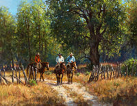 MARTIN GRELLE (American, b. 1954) Back Roads, 1985 Oil on canvas 14 x 18 inches (35.6 x 45.7 cm)<
