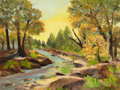 Texas, FRED DARGE (American, 1900-1978). Landscape with River. Oilon canvas. 18 x 24 inches (45.7 x 61.0 cm). Signed lower rig...