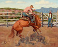 Texas, FRED DARGE (American, 1900-1978). Pair of Paintings: StrawberryRoan, Morning Ride. Oil on artist's board. 8 x 10 inches...(Total: 2 Items)