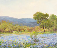 ROBERT WILLIAM WOOD (American, 1889-1979) Boerne Hills Oil on canvas 24 x 30 inches (61.0 x 76.2