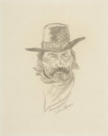 Works on Paper, PROPERTY FROM THE DUFFY AND TINA OYSTER FOUNDATION. JOHN FORD CLYMER (American, 1907-1989). Untitled (Portrait of a Cowb...