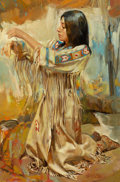 Western:20th Century, PROPERTY FROM THE DUFFY AND TINA OYSTER FOUNDATION. WILLIAM WHITAKER (American, b. 1943). Ceremony. Oil on panel. 18 x...