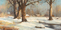 ROBERT WILLIAM WOOD (American, 1889-1979) December, 1970 Oil on canvas 24 x 48 inches (61.0 x 121