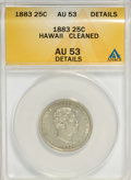 Coins of Hawaii, 1883 25C Hawaii Quarter--Cleaned--ANACS. AU53 Details. NGC Census:(12/773). PCGS Population (39/1210). Mintage: 500,000. ...