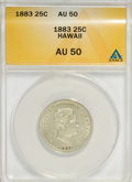 Coins of Hawaii: , 1883 25C Hawaii Quarter AU50 ANACS. NGC Census: (13/785). PCGSPopulation (58/1249). Mintage: 500,000. (#10987)...