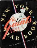 Baseball Collectibles:Publications, 1951 New York Giants Yearbook....