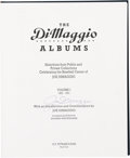 "Autographs:Others, 1989 Joe DiMaggio Signed ""The DiMaggio Albums"" Two Volume Set. ..."