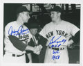 Autographs:Others, Brooklyn Dodgers & New York Yankees Stars Signed PhotographsLot of 3....