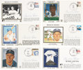 Autographs:Others, Pee Wee Reese Signed Cachets & Postcards Lot of 11....
